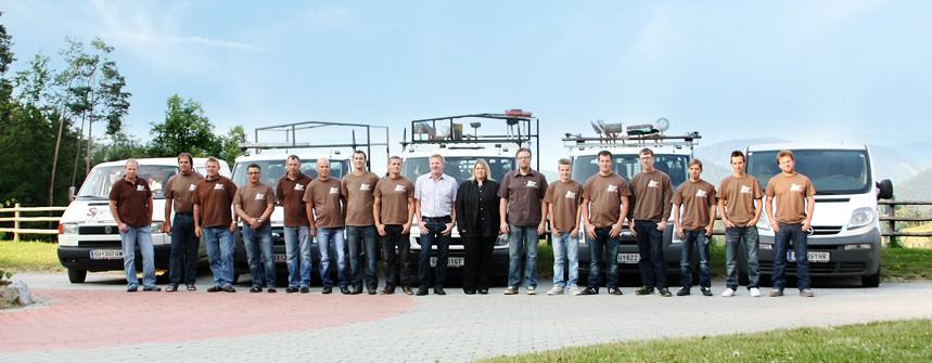 Team der Schönbacher & Klöckl OG im Breitbild